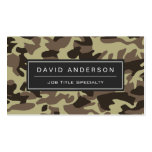 Hunter Stylish Military Camouflage Camo Pattern Pack Of Standard Business Cards