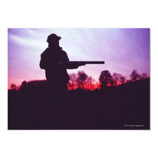 Hunter with Gun 13 Cm X 18 Cm Invitation Card