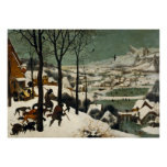 Hunters in the Snow by Pieter Bruegel the Elder Poster