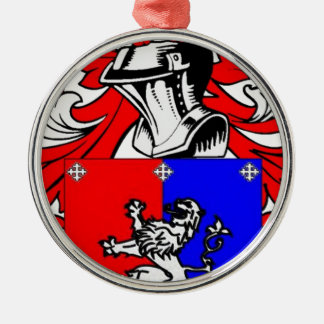 Hutchinson Coat of Arms Silver-Colored Round Decoration