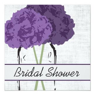 Hydrangeas in a Jar Bridal Shower 13 Cm X 13 Cm Square Invitation Card