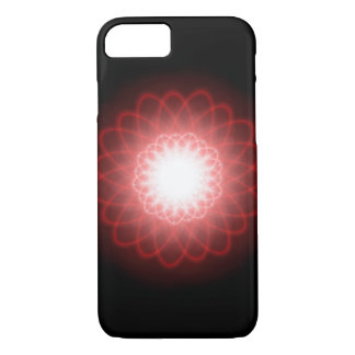 Hypnotic Red Swirls Abstract iPhone 7 Case