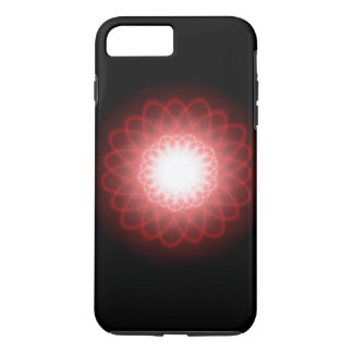 Hypnotic Red Swirls Abstract iPhone 7 Plus Case