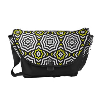 Hypnotic Yellow Bag Courier Bag