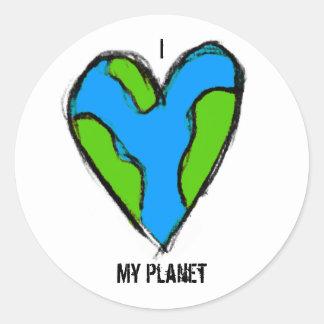 I <3 My Planet Sticker