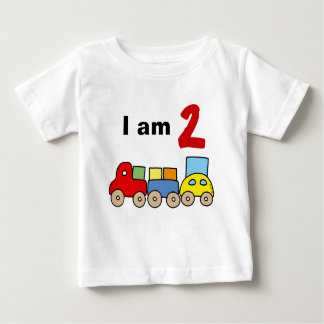 I am 2 (wooden toy train) tee shirt