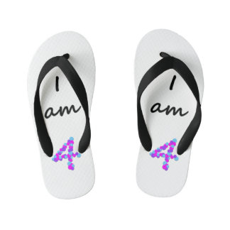 I am 4 - Kids Flip Flops