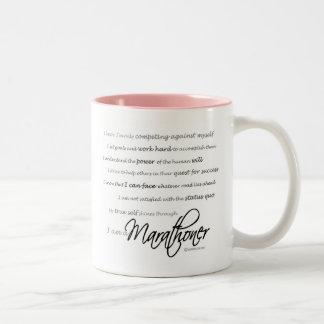 I am a Marathoner Two-Tone Mug