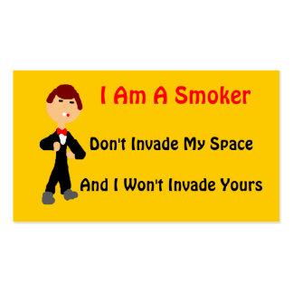 I Am A Smoker 2 Pack Of Standard Business Cards