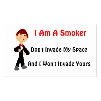 I Am A Smoker Pack Of Standard Business Cards