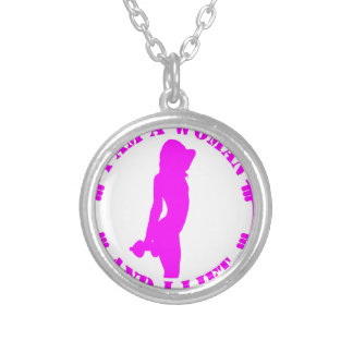 I am a woman and I lift official design pink Round Pendant Necklace