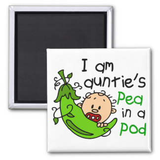 I Am Auntie's Pea In A Pod Square Magnet
