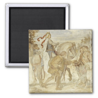 I am searching for my Donkey, Wartburg Castle Square Magnet