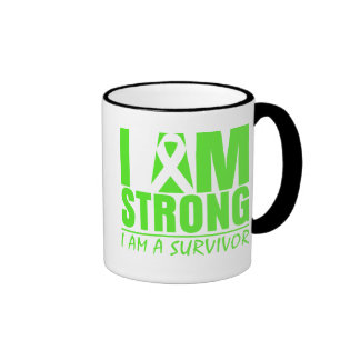 I am Strong I am a Survivor Non-Hodgkin's Lymphoma Ringer Mug