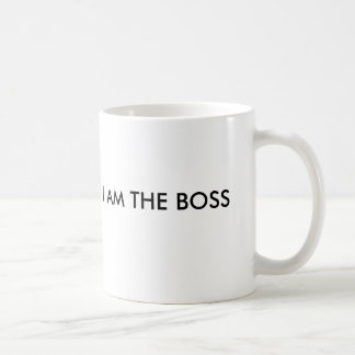 I AM THE BOSS, THAT´S ALL YOU NEED TO KNOW BASIC WHITE MUG