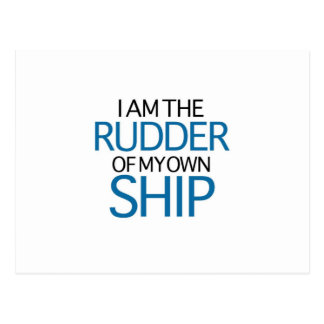 I Am The Rudder Of My Own Ship (blue edition) Postcard