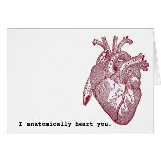 I anatomically heart you greeting card