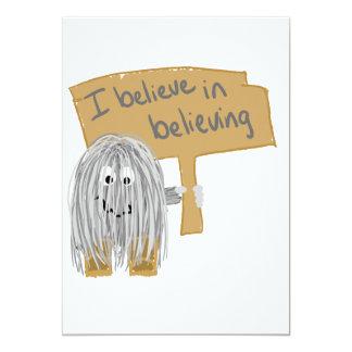 i believe in believing 13 cm x 18 cm invitation card