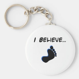 I Believe in Bigfoot Basic Round Button Key Ring
