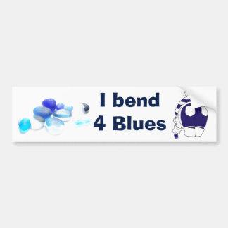 I bend 4 blues bumper sticker