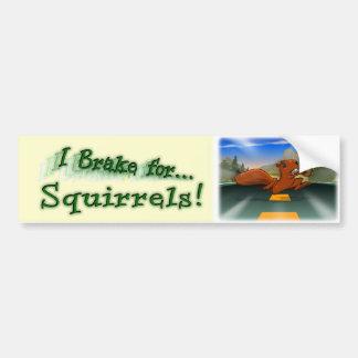 I Brake for Squirrels! Bumper Sticker