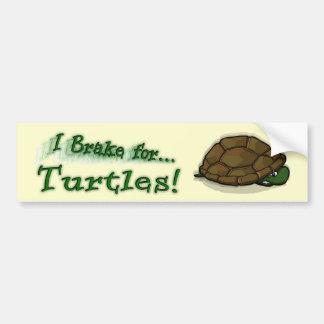 I Brake for Turtles! Bumper Sticker