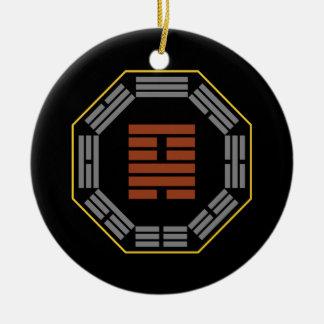 "I Ching Hexagram 18 Ku ""Restoration"" Round Ceramic Decoration"