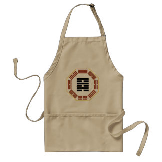 """I Ching Hexagram 64 Wei Chi """"Before Completion"""" Standard Apron"""