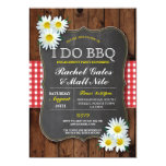 I DO BBQ Couples Shower Chalk Daisy Flower Invite