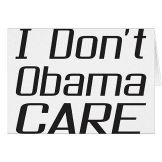 I don't obamacare design greeting card