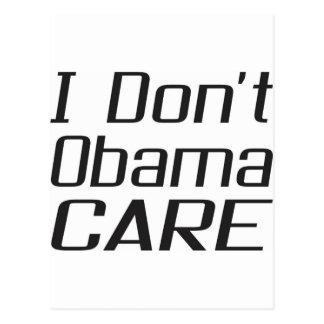 I don't obamacare design postcard