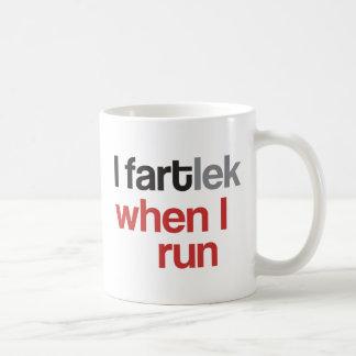 I FARTlek when I Run © - Funny FARTlek Runner Gift Basic White Mug