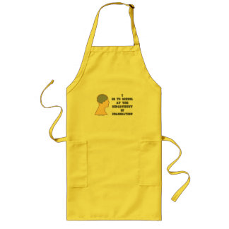 I Go To School At The Department Of Imagination Long Apron