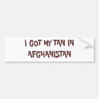 I GOT MY TAN IN AFGHANISTAN BUMPER STICKER