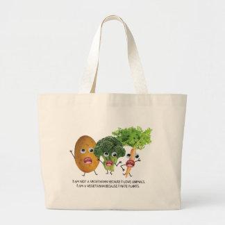 I hate veggies :) jumbo tote bag