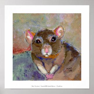 I Have Issues - fun sensitive pet rat painting art Poster