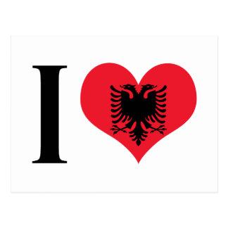 I Heart Albania - I Love Albania - Albanian Flag Postcard