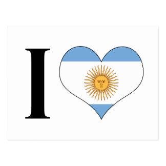 I Heart Argentina - I Love Argentina - Argentinian Postcard