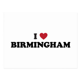 I Heart Birmingham England Postcard