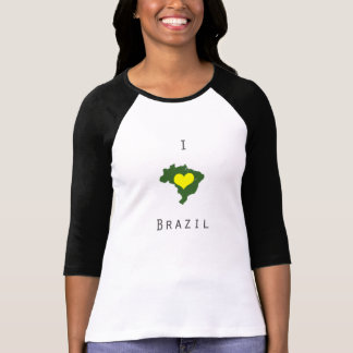 I heart Brazil 3/4 Sleeve Shirt