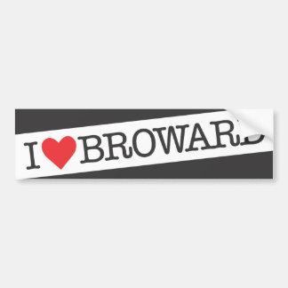 I heart Broward county florida Bumper Sticker