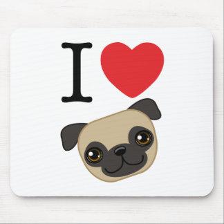 I Heart Fawn Pugs Mouse Pad