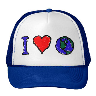 I Heart Globe Cap