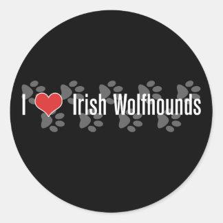 I (heart) Irish Wolfhounds Round Sticker