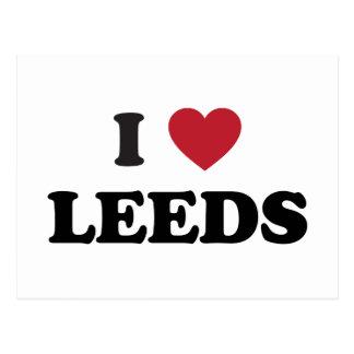 I Heart Leeds England Postcard