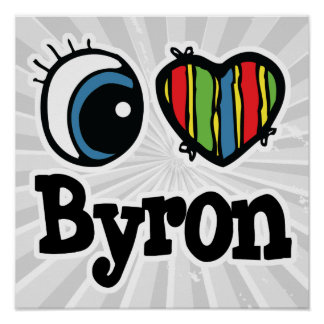 I Heart (Love) Byron Poster