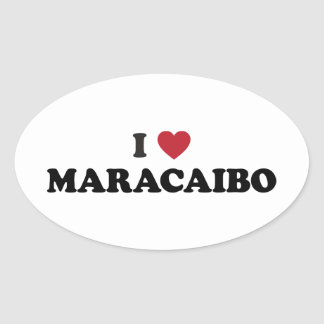 I Heart Maracaibo Venezuela Oval Sticker