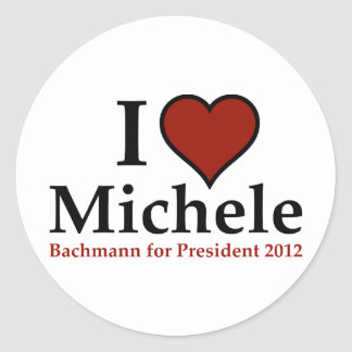 I Heart Michele Bachmann Round Sticker