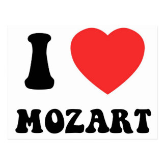 I Heart Mozart Postcard