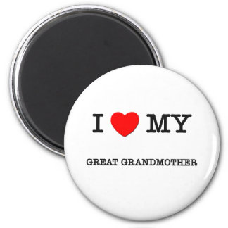 I Heart My GREAT GRANDMOTHER 6 Cm Round Magnet